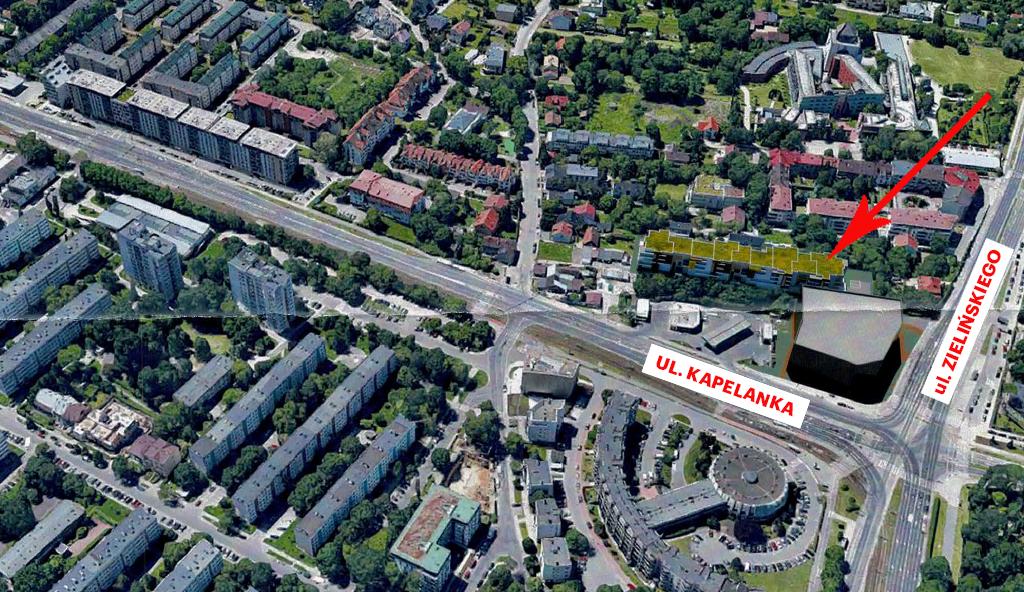 Lokalizacja bloku przy ul. Zielińskiego