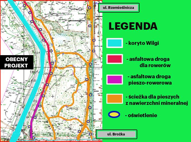Projekt parku rzecznego Wilgi I Etap
