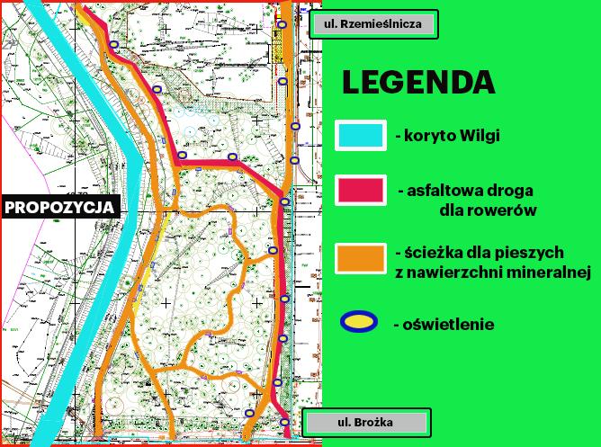 Propozycja zmiany projektu parku rzecznego Wilgi